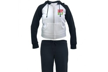 Daddy Elf Christmas Women's Tracksuit by CafePress