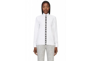 Kenzo Black And White Poplin Film Strip Shirt