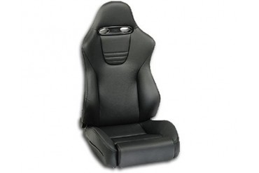 Recaro Sport Topline Right Seat Black LeatherBlack Leather Silver Logo