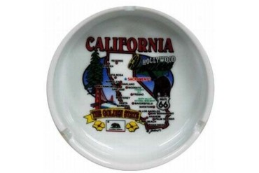 Jenkins California Ashtray- State Map (pack Of 72)