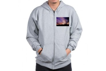 The sky at adventures end. Sun Zip Hoodie by CafePress