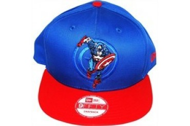 Marvel Comics Captain America Action Arch Logo 9Fifty Embroidered Snap Closure Hat