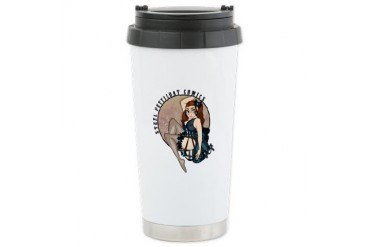 Steel Petticoat logo Comics Ceramic Travel Mug by CafePress