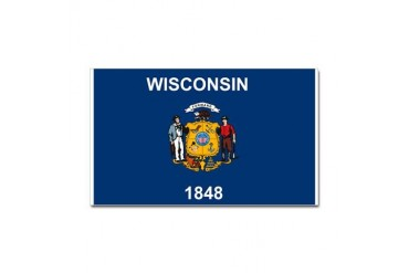 Wisconsin Flag Rectangle Sticker