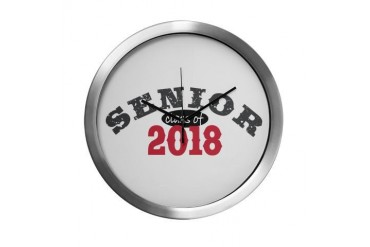 Senior Class of 2018 Funny Modern Wall Clock by CafePress
