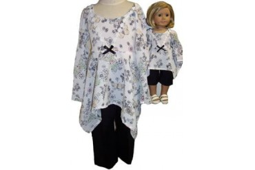 Matching Girl And Doll Clothes Pants Shirt Size 7