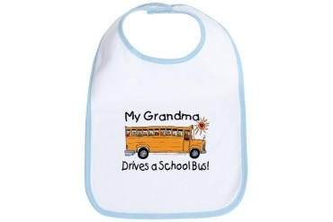Grandma Drives a Bus - Grandma Bib by CafePress