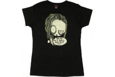 Roman Dirge Lenore, the Cute Little Dead Girl Hug Me or I Shall Destroy You Baby Doll Tee