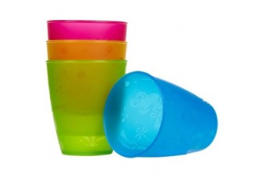 Nuby 4 Pk Embossed Cups (pack Of 24)