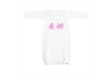 Chinese Name - Anna Pink Baby Gown by CafePress