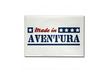Made in Aventura Florida Rectangle Magnet by CafePress
