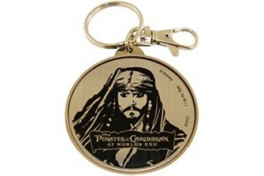 Pirates of the Caribbean Jack Face Round Metal Keychains