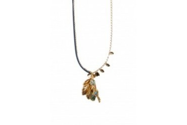 Leaves Ocean Crystals Long Necklace