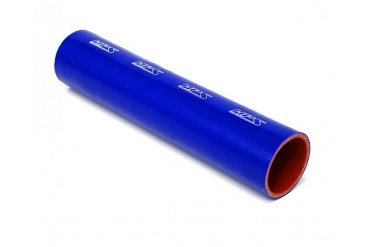 HPS 14 Inch 6.5mm 4-ply Reinforced 1 Foot Tube Coupler Silicone Hose Blue
