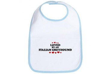 Loved: Italian Greyhound Pets Bib by CafePress