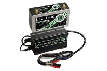 Braille Lithium Ion Super 16 Volt Battery 950 Amp 10 x 3 x 6 inch Left Positive with Charger