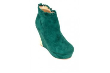 Blue Green Low-Cut Boots