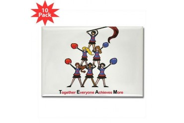 Team Spirit Sports Rectangle Magnet 10 pack by CafePress