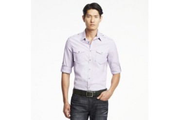 Long-Sleeve End-On-End Military Shirt