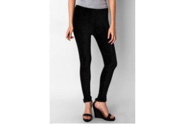 Now & Forever Black Velvet Legging
