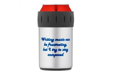 Composed Thermos Can Cooler Funny Thermosreg; Can Cooler by CafePress