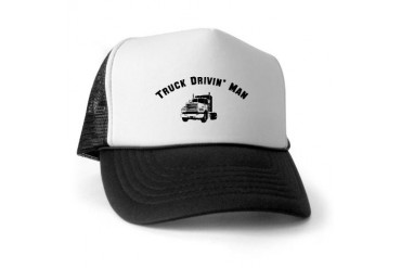 Truck Drivin' Man Trucker Trucker Hat by CafePress