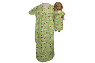 Matching Girls Dolls Nightgown Size 7