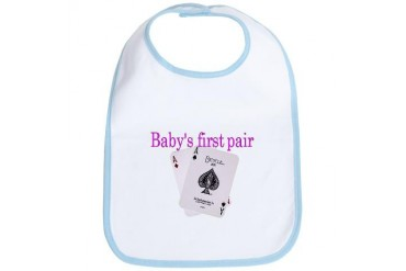 Baby's first pair Games Bib by CafePress