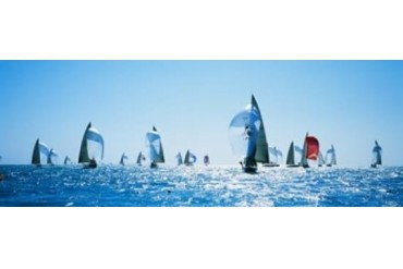 Sailboat Race, Key West Florida, USA Print by Panoramic Images