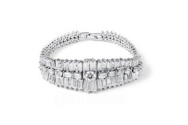 Nice Zircon/Platinum Plated Ladies' Bracelets (011050994)