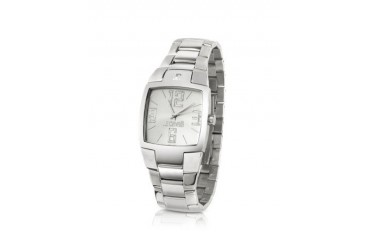 Lusa - Silver Square Dial Stainless Steel Bracelet Watch