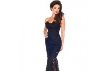 Mac Duggal Black White Red - Style 70004R
