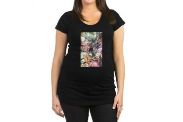 Edward Julius Detmold Tropical Birds Maternity Dar Vintage Maternity Dark T-Shirt by CafePress