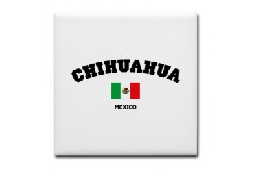 Chihuahua Places Tile Coaster by CafePress
