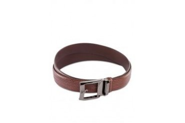 Polo Weave Detail Leather Belt