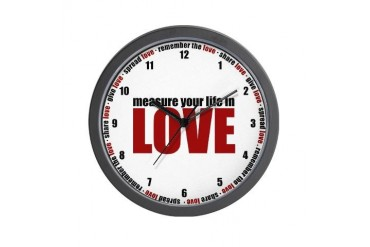 Measure Your Life In Love Mother's day Wall Clock by CafePress