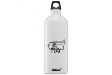 PLAY- FLUGELHORN copy.png Music Sigg Water Bottle 1.0L by CafePress