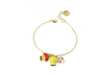 Chaperon et Champignons Trio of Mushrooms Bracelet