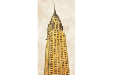 Gilded Skyscraper I Poster Print by Joannoo (10 x 20)