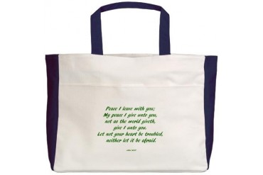 peace Art Beach Tote by CafePress
