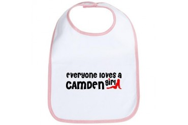 Everyone loves a Camden Girl New jersey Bib by CafePress