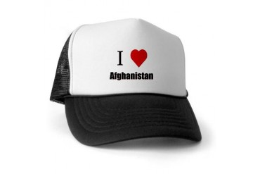 I Love Afghanistan Love Trucker Hat by CafePress