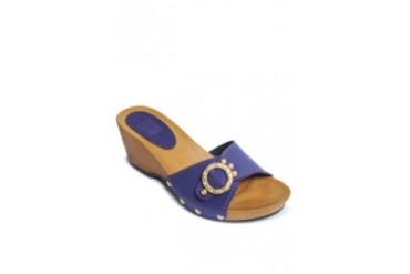 Violet Slide Wedges
