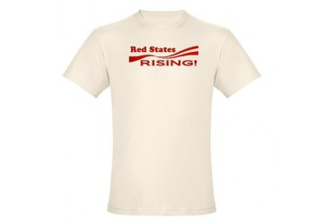 Red States Rising Conservative Organic Men's Fitted T-Shirt by CafePress