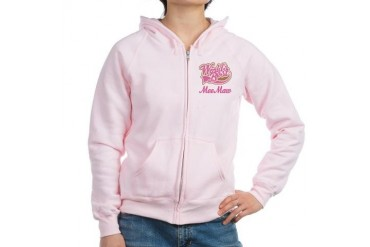 MeeMaw Worlds Best Grandma Women's Zip Hoodie by CafePress