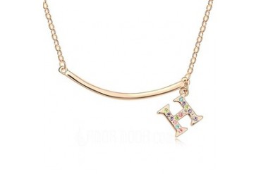 Alloy With Rhinestone Ladies' Fashion Necklace (011035202)
