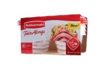 12 Pack Rubbermaid 1803522 .5C 118Ml Food Contain Mini 6C