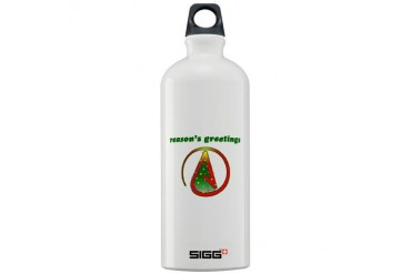 Reasons Greetings Atheist Sigg Water Bottle 1.0L by CafePress