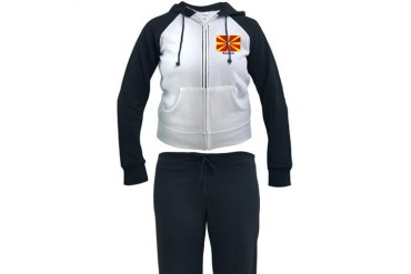 Macedonia Macedonian Flag Flags Women's Tracksuit by CafePress