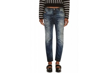 Diesel Blue Faded And Distressed Eazee ne Jogg Jeans